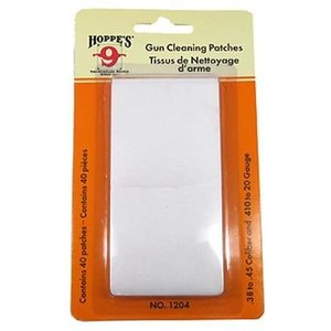 Hoppes Hoppes .38 / 45 Cal / 410 Gauge to 20 Gauge Gun Cleaning Patches (#1204)