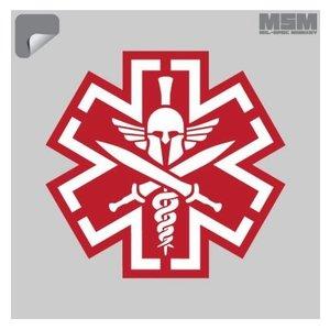 Milspec Monkey TacMed Spartan Decal (Red)