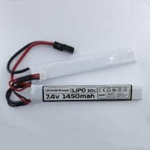 RHAM Power RHAM 7.4v Li-Po 1450mAH Nunchuk Airsoft Battery (20C)