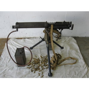 Consignment Vickers Machine Gun (w/ Tripod, Brass, Water Box, Tube, Belt)