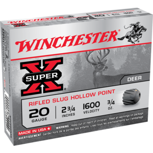 Winchester Winchester 20 GA Rifled Hollow Point (5 Shells) X20RSM5