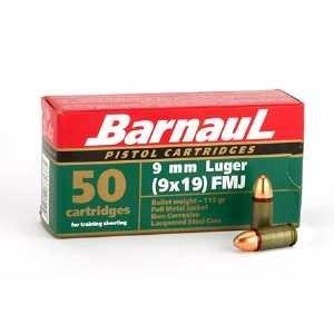 Barnaul Barnaul 9mm Luger 115 Grain FMJ (Steel Cased)