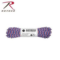 Rothco Nylon Type III 550 Paracord 100ft - Red / White / Blue