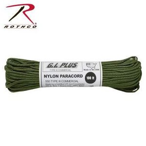 Rothco Nylon Type III 550 Paracord 100ft - OD Green