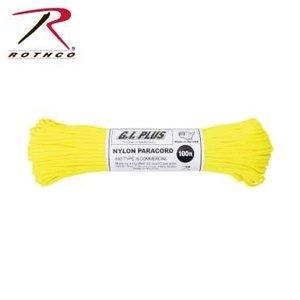 Rothco Nylon Type III 550 Paracord 100ft - Yellow