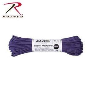 Rothco Nylon Type III 550 Paracord 100ft - Purple