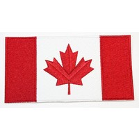 "CPK Red & White Canadian Flag Patch - Extra Large (6"" x 3)"""