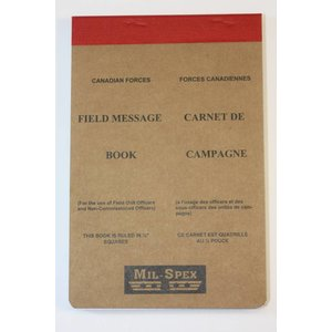 "Mil-Spex Mil-Spex Field Military Message Pad 4.5"" x 6.75"" (No. 318)"