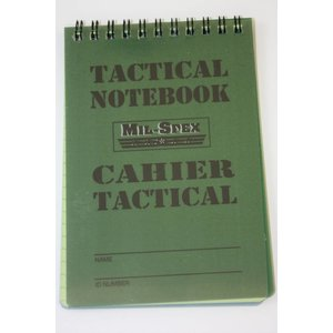 "Mil-Spex Mil-Spex Tactical Notebook - 6"" x 4"" (MAG12)"