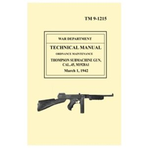 Repro Manuals Thompson M1928a1 Technical Manual