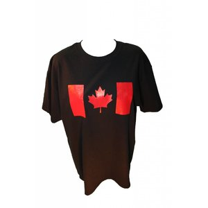 Poco Miltary Red Canada Flag on Black T-Shirt