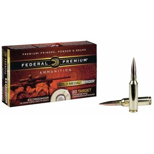 Federal Federal Premium Gold Medal 6.5mm Creedmoor 130 Grain Berger Hybrid Open Tip Match