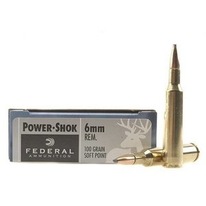 Federal Federal Power-Shok 6mm Remington (100 Grain SP)