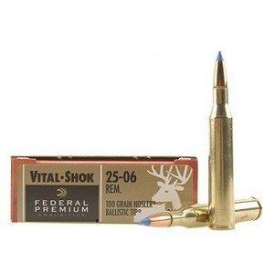 Federal Federal Premium Vital-Shok 25-06 Remington (100 Grain Nosler Ballistic Tip)