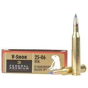Federal Federal Premium Vital-Shok 25-06 Remington 85 Grain Nosler Ballistic Tip