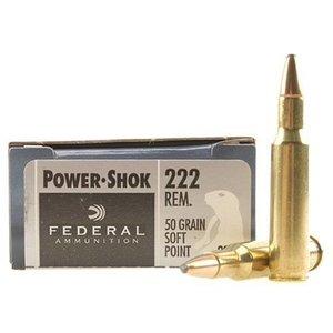Federal Federal Power-Shok 222 Remington 50 Grain SP