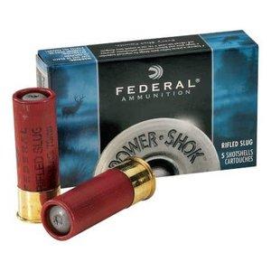 """Federal Federal Power-Shok 12 Gauge SLUG (2-3/4"""" Maximum 1oz Hollow Point Slugs)"""
