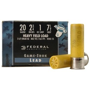 "Federal Federal Game-Shok Heavy Field (20 Gauge 2-3/4"" #7.5 1oz)"