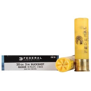 "Federal Federal Power-Shok (20 Gauge 3"" Magnum #2 Buckshot)"
