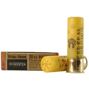"Federal Federal Premium Vital-Shok (20 Gauge 2-3/4"" Maximum #3 Buckshot)"