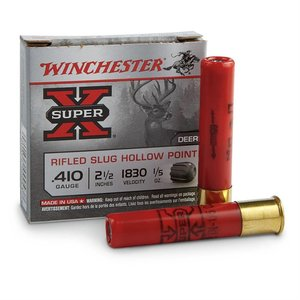 "Winchester Winchester Super-X 410 Gauge (2-1/2"" Hollow Point 1/5oz Slugs)"