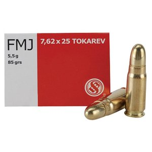Sellier & Bellot Sellier & Bellot 7.62x25mm Tokarev 85 Grain FMJ (50 rds.)