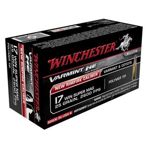 Winchester Winchester Varmit HE 17 Winchester Super Mag 25 Grain Polymer Tip (50 rds.)