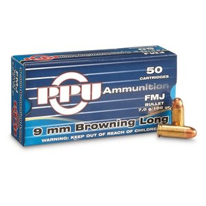 Prvi Partizan Prvi Partizan 9mm Browning Long 108 Grain FMJ (50 rds)