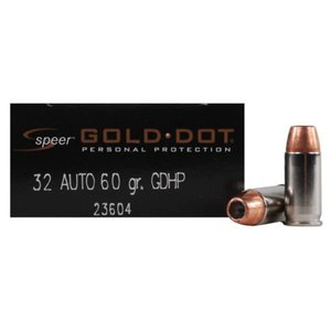 Speer Speer Gold Dot 32 Auto (60 Grain GDHP) 20 rds.
