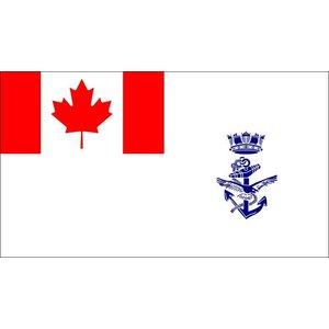 Flag Outlet Canadian Navy Crest Flag (3 x 5)