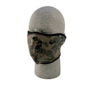 Zan Zan Neoprene Half Mask (Woodland Digital) MARPAT