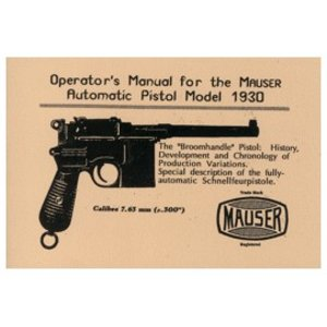 Repro Manuals Mauser Automatic Pistols Manual