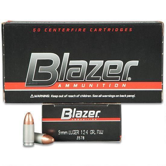 Blazer 9mm Luger 124 Grain FMJ (#3578)