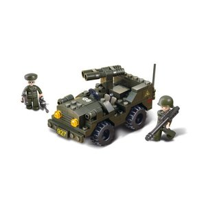 Sluban Sluban Double Cannon Jeep Set (w/ 2 Mini-Figs)