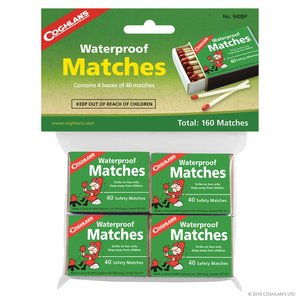 Coghlan's Coghlan's Waterproof Matches Pack of 4 (#940BP)