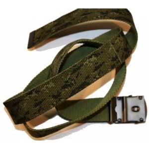 SGS CADPAT / Olive Drab Reversible Military Web Belt with Black Metal Buckle