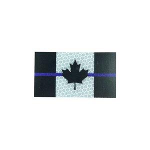 PatchPanel Blue Line Canada Flag - Grey - Hi Viz Patch