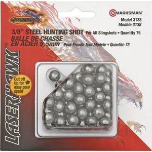 """Marksman 3/8"""" Steel Hunting Shot for Slingshot (75 Rds)"""