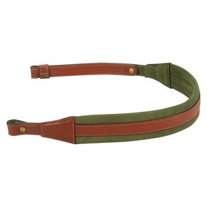Levy's Leathers Levy's Classic Comfort Leather Sling - Walnut/Green (SN14-WAL/GRN)