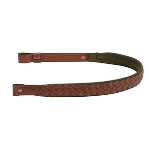 "Levy's Leathers Levy's 1"" Braided Leather Sling - Walnut/Green (SN7BS-WAL/GRN)"