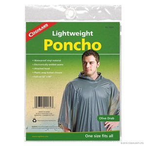 Coghlan's Coghlan's Lightweight Poncho Olive Drab (#9269)