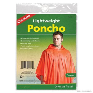 Coghlan's Coghlan's LIghtweight Poncho Orange (#9267)
