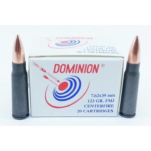 Dominion Cartridge Company Dominion SKS 7.62x39mm -20 rds. - (123 Grain FMJ) (Non-Corrosive)