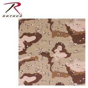 """Rothco 6-Colour Desert Camo Bandana - 22"""""""