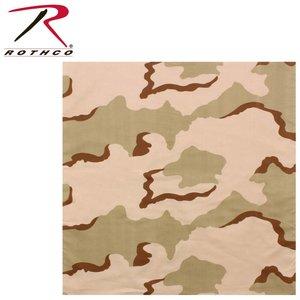 """Rothco 3-Colour Desert Camo Bandana - 22"""""""