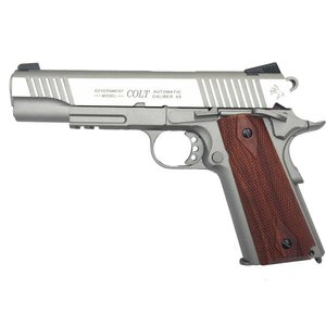 Cybergun Colt 1911 Rail Gun - Wood Grips (Airsoft Pistol Co2) Cybergun #180530