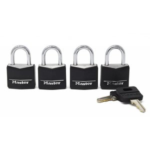 "Master Lock Master Lock 131Q 4 locks in pack 1 3/16"""