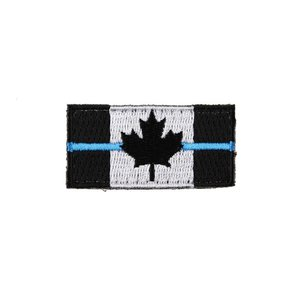 PatchPanel Thin Blue Line Canadian Flag Patch – Small