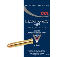 CCI/Speer CCI Maxi-Mag 22 WMR 40 Grain Jacketed Hollow Point (#24)
