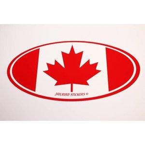 "Jailbird Canada Flag Sticker (3"" x 7"")"